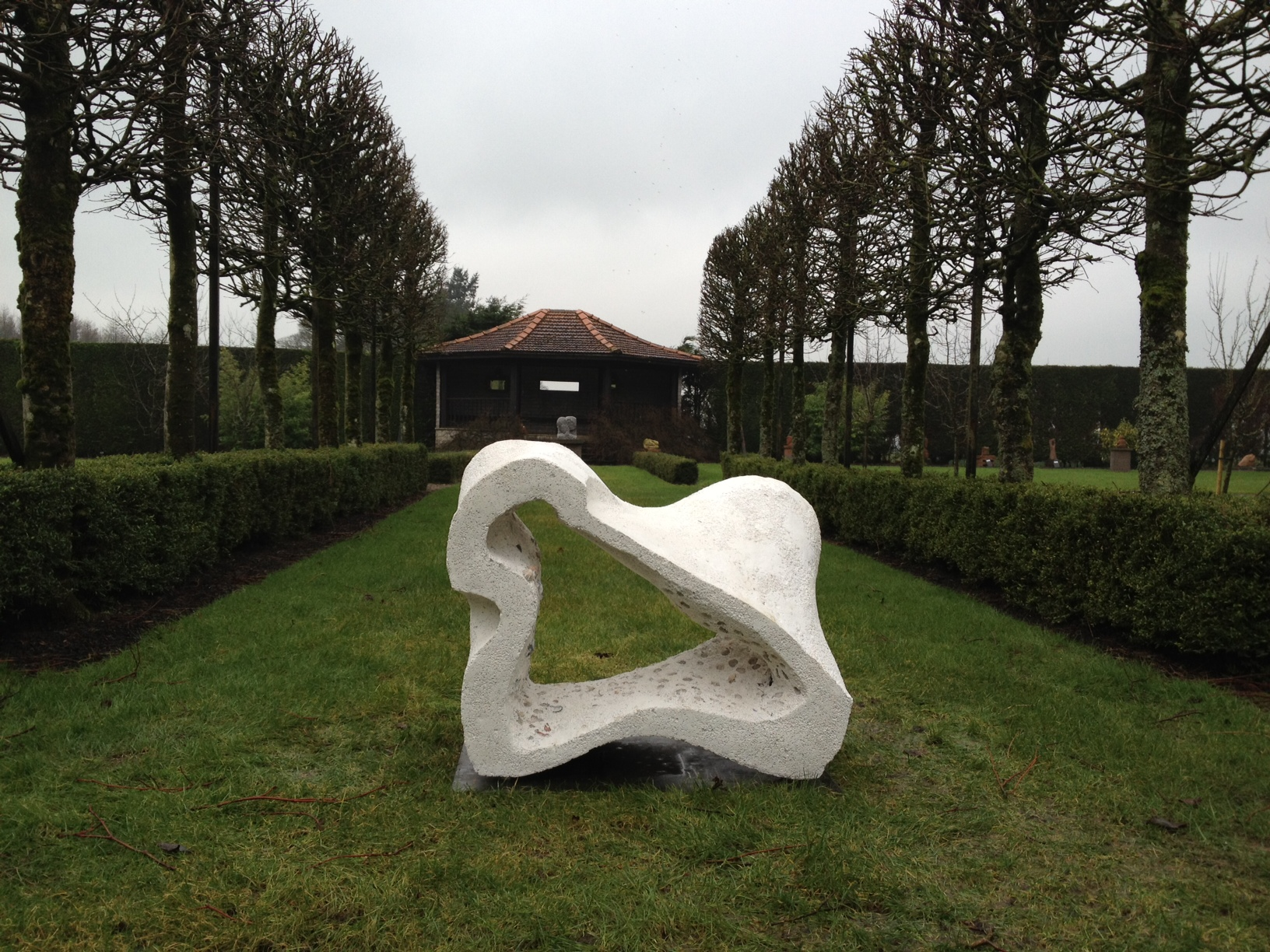 Sculpture installed at Threave Gardens, Castle Douglas